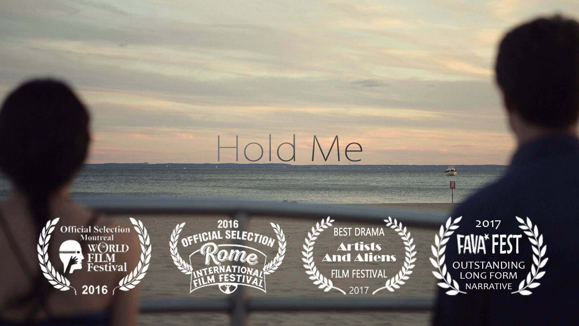 image of the two main characters of Hold Me looking out to see